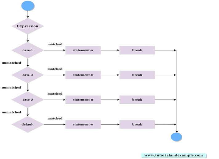 PHP Switch Statement Flow Chart