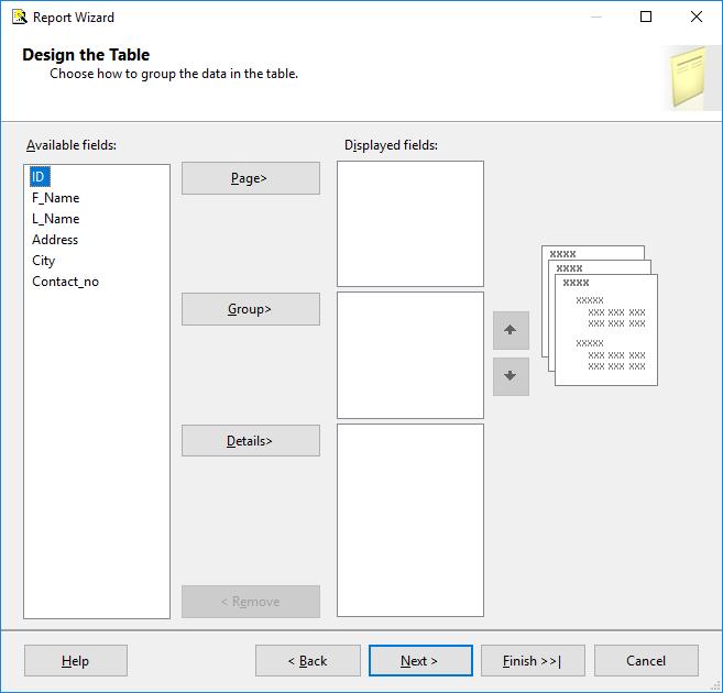 Create a Tablix report 14