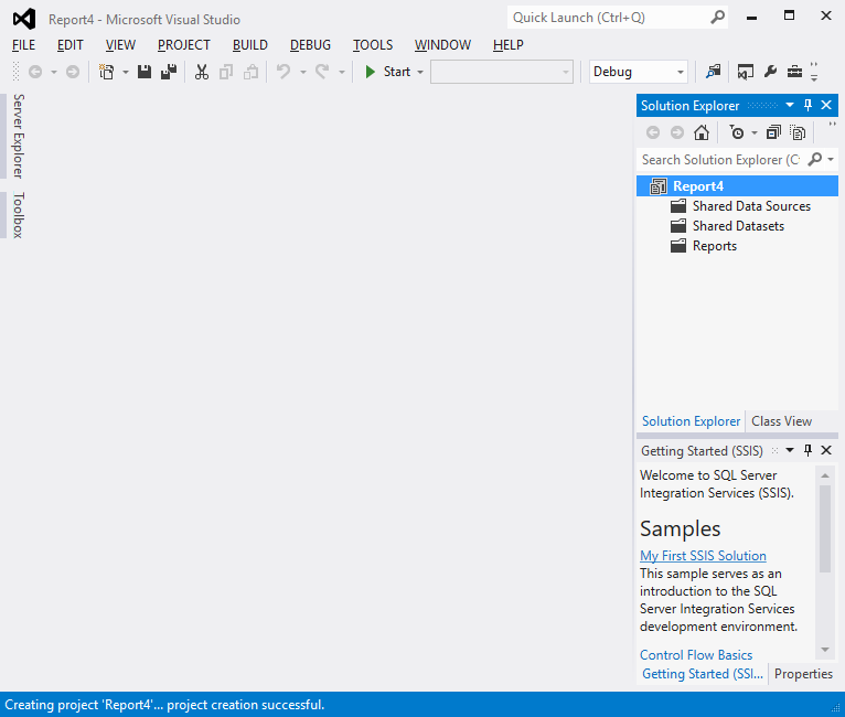 Create a Tablix report 2