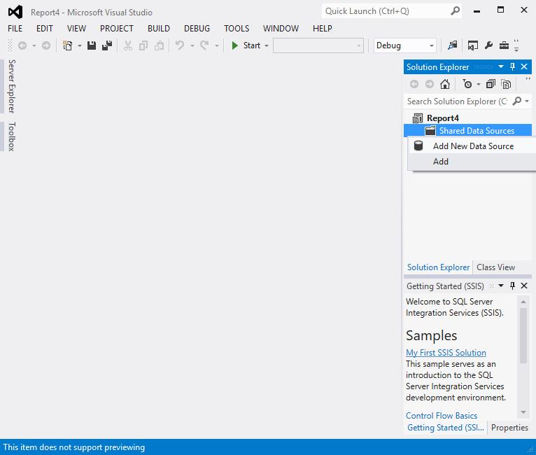 Create a Tablix report 3