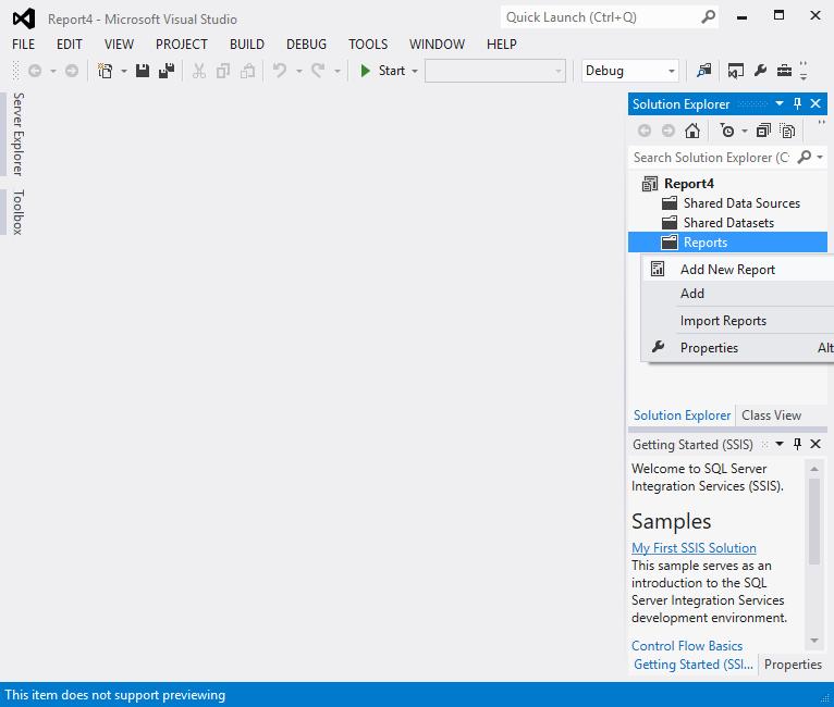 Create a Tablix report 8