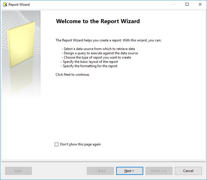 Create a Tablix report 9