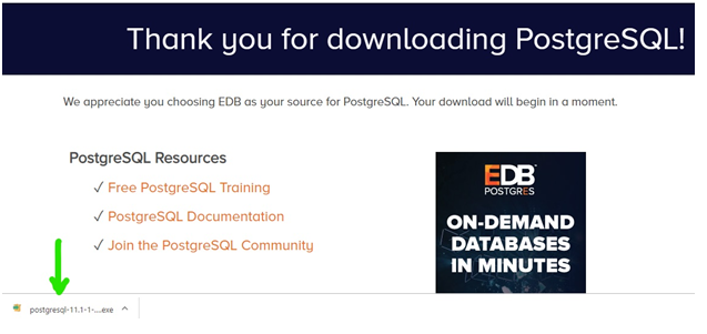 PostgreSQL Downloading | TutorialandExample