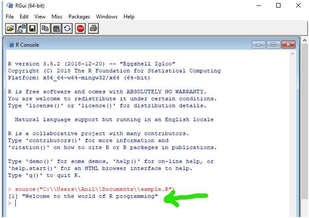 Welcome to R world Programming