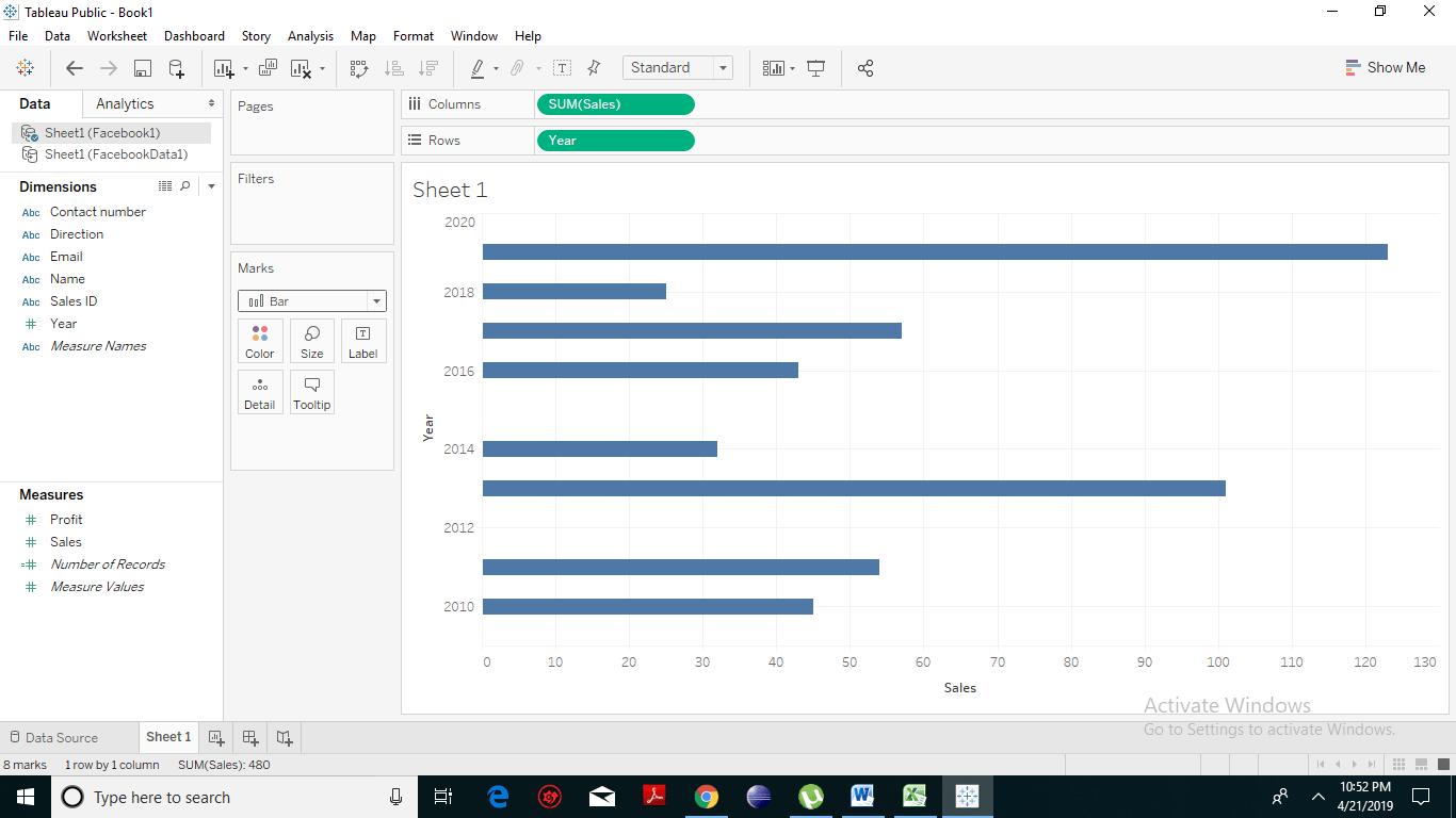 Data Blending on a Worksheet