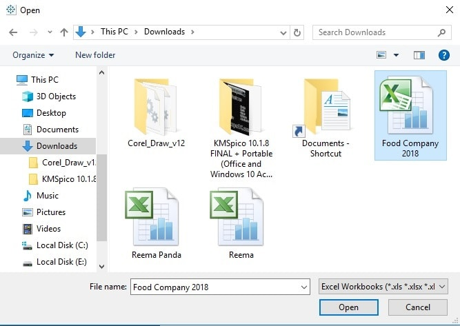 choose your Excel in from computer tableau connect excel