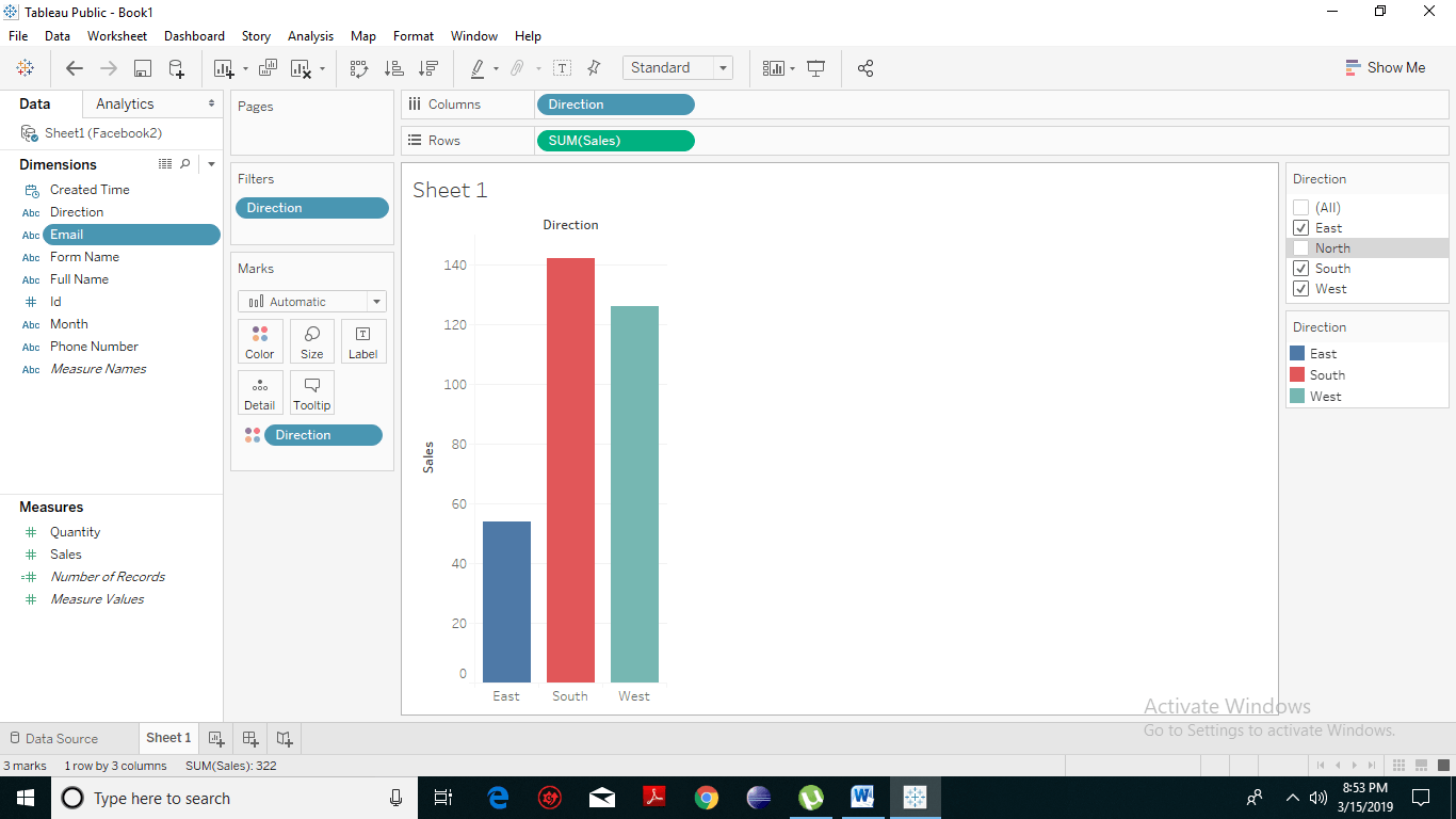 tableau add filter card to dashboard