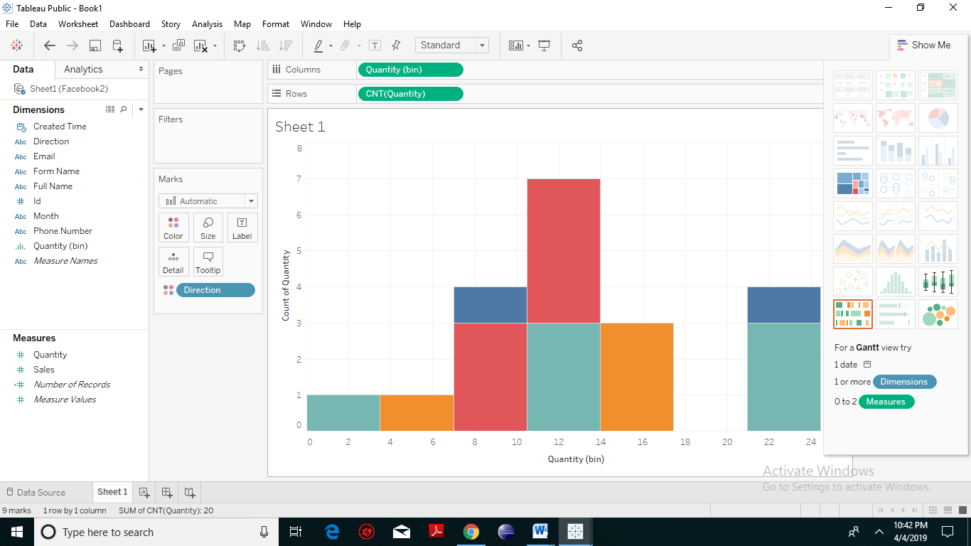 Creating Histogram chart in Tableau 4