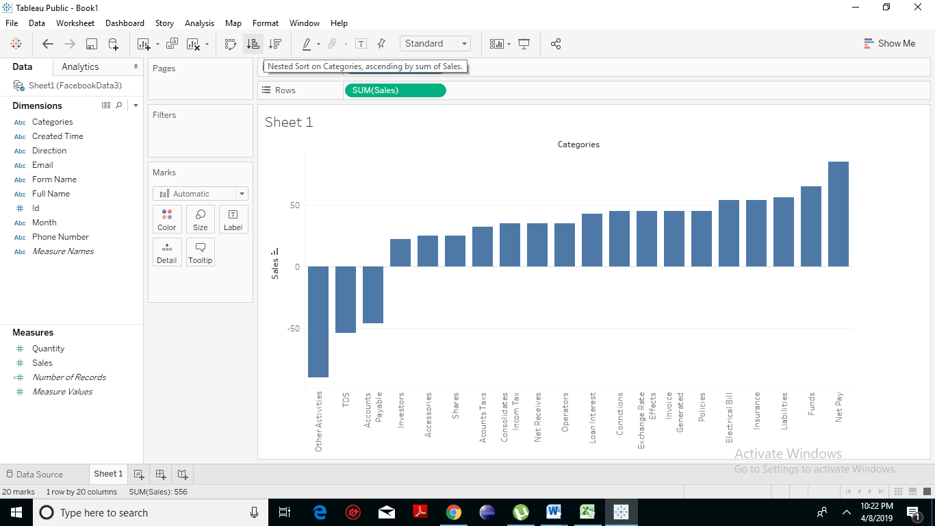 Creating a Waterfall Chart 3