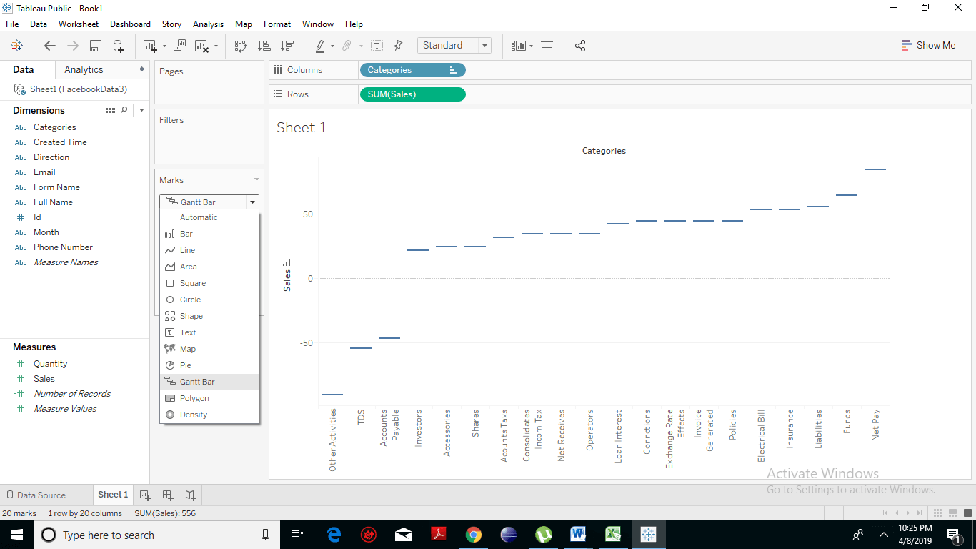 Creating a Waterfall Chart 4