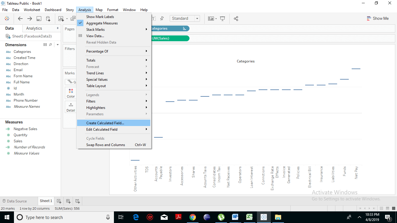 Creating a Waterfall Chart 6