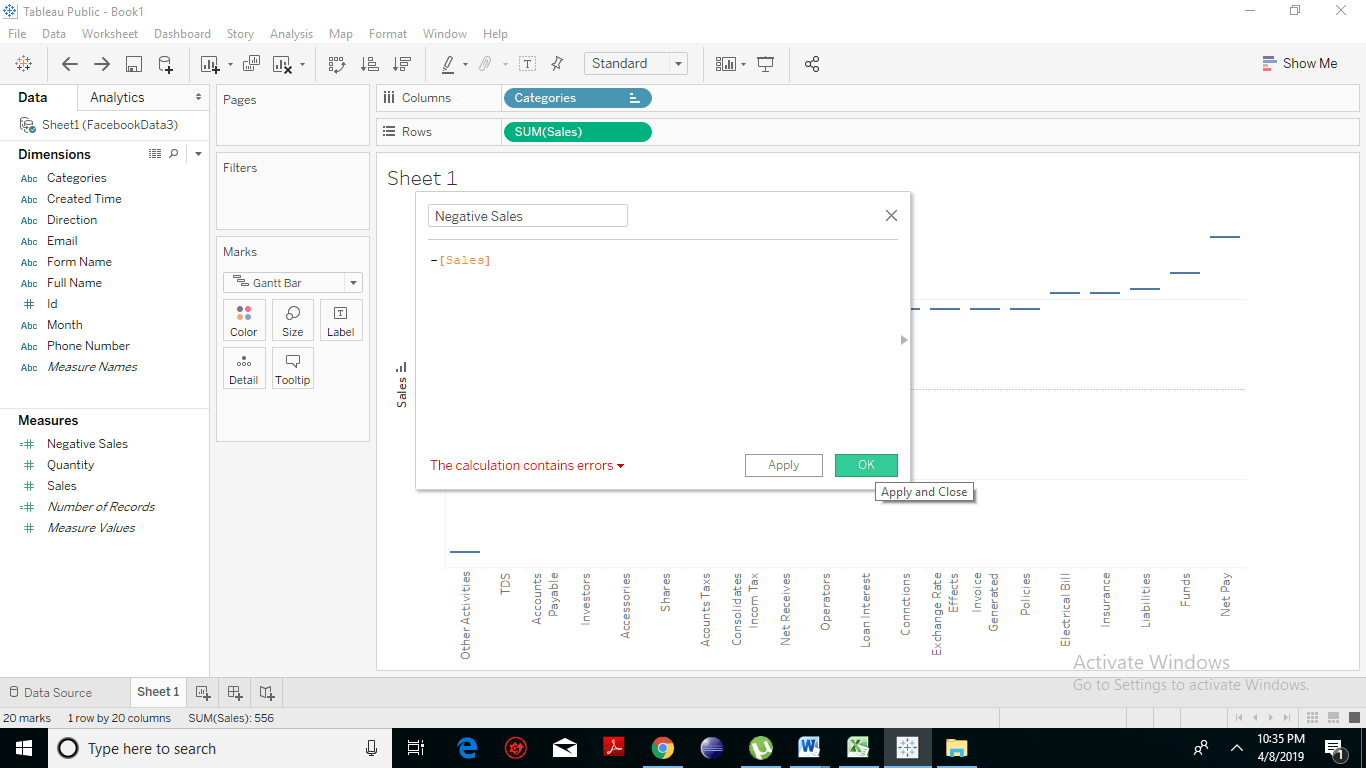 Creating a Waterfall Chart 7