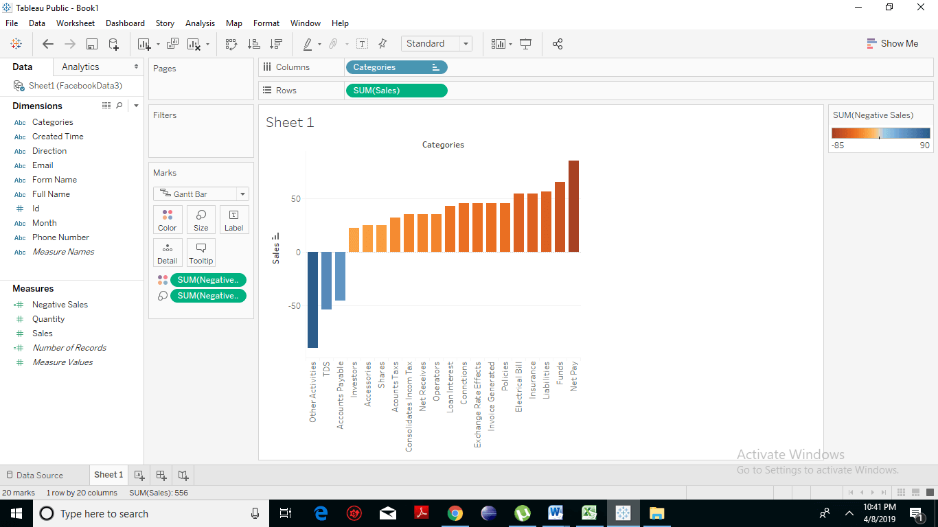 Creating a Waterfall Chart 9