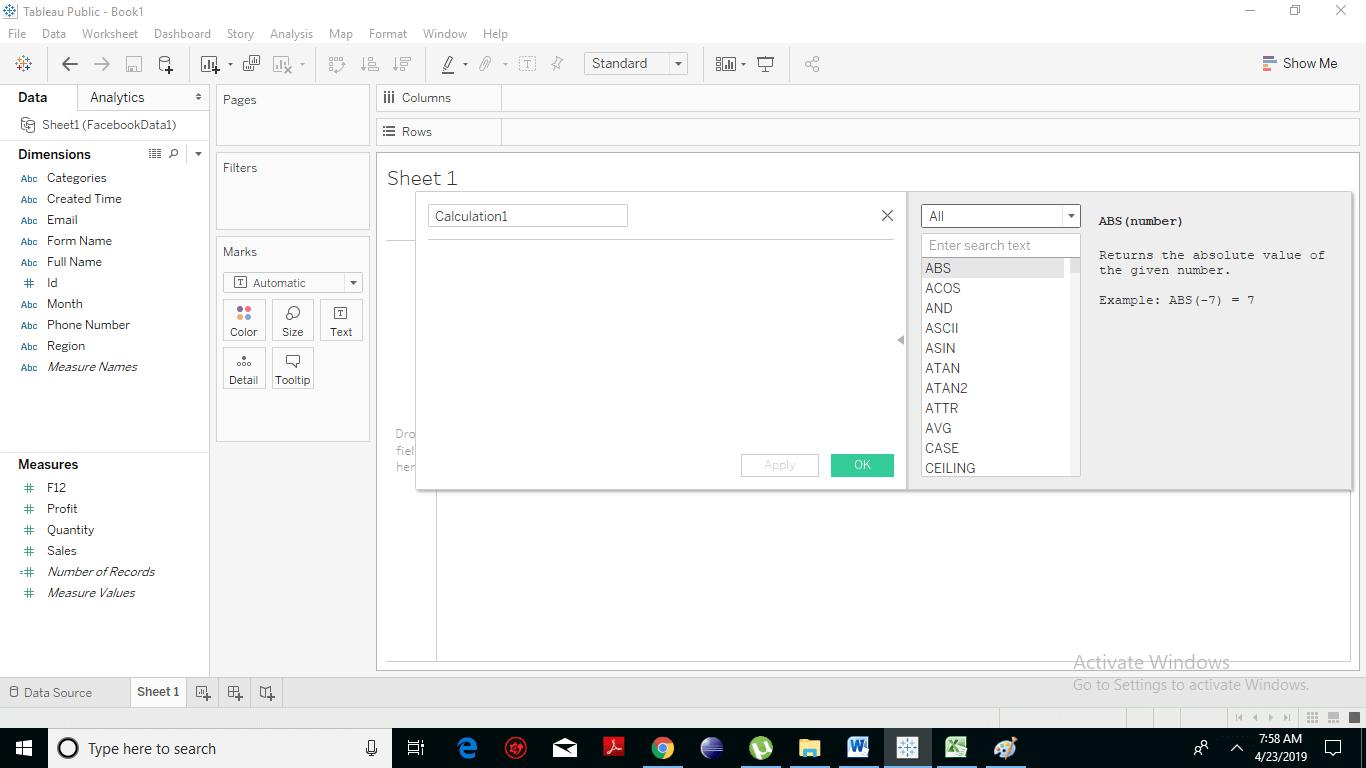 Tableau Date Functions