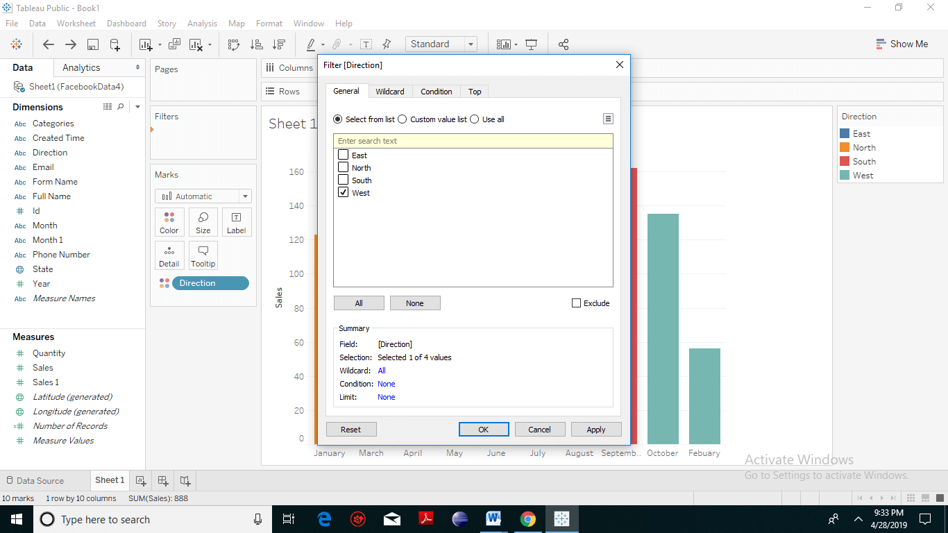 Tableau Filter Introduction 2