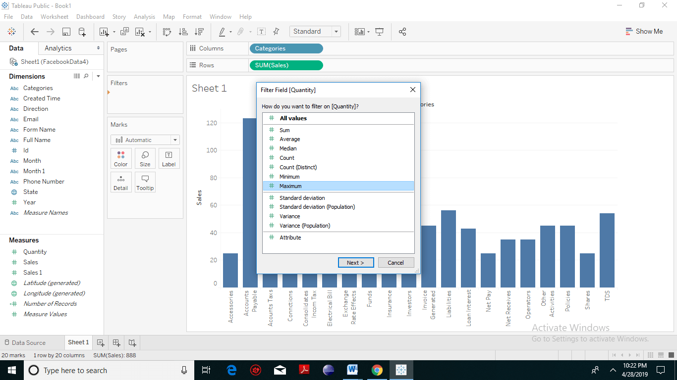 Tableau Filter Introduction 5