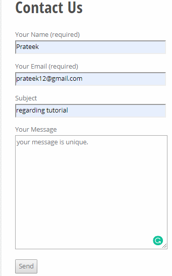 creates a Contact Form or Widgets