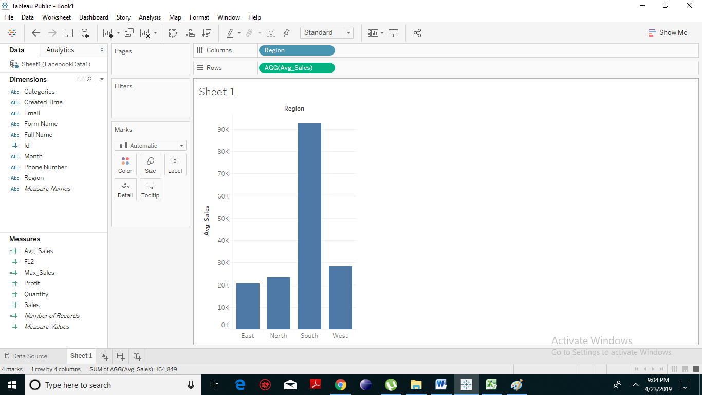 Tableau Numeric Calculations