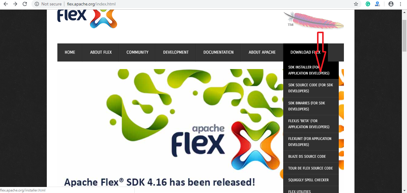 Apache Flex SDK Installer