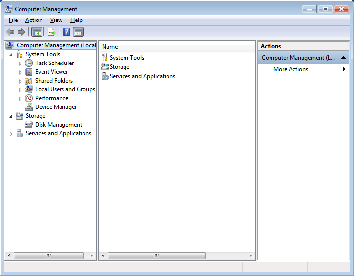 Click on the Disk management option