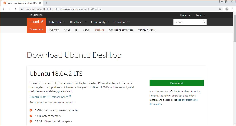 Download Ubuntu iso