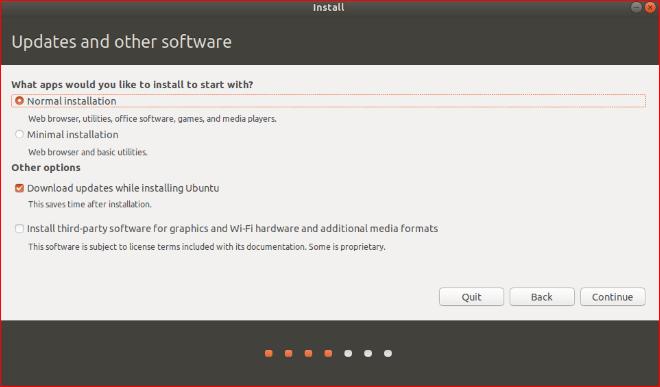 Download updates while installing Ubuntu