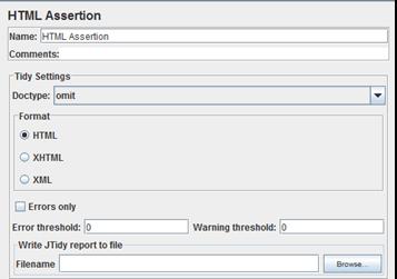 HTML Assertion