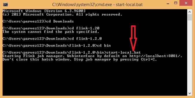 Install Apache Flink 4