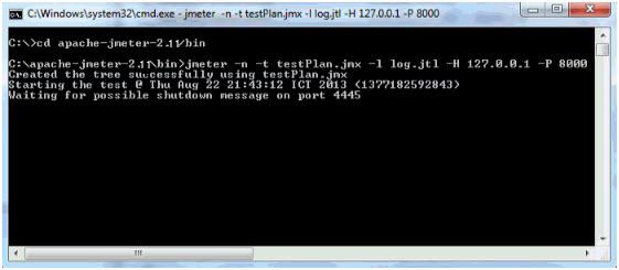 JMeter in Command line mode