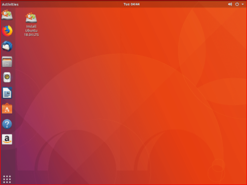 Run and install the Ubuntu