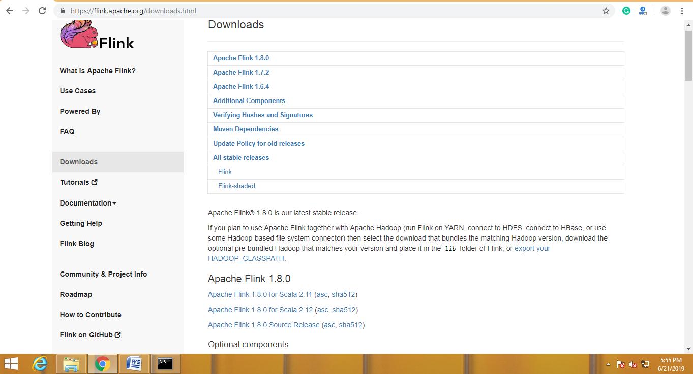 install Apache Flink