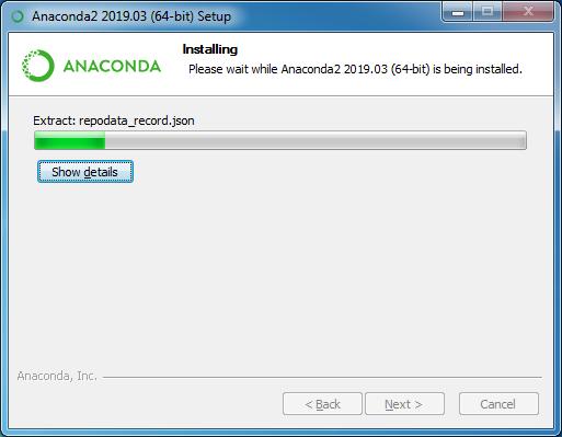 installing anaconda step 10