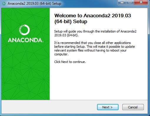 installing anaconda step 5
