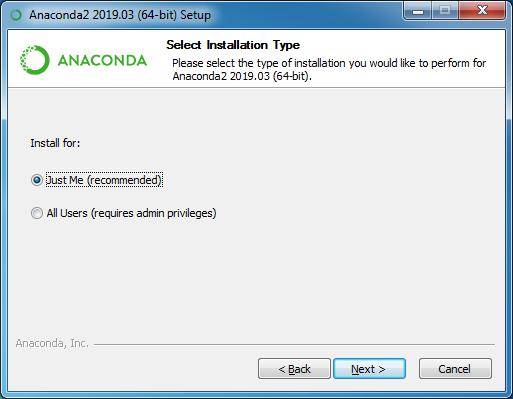 installing anaconda step 7