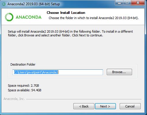 installing anaconda step 8