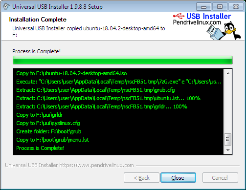 ubuntu process is completed