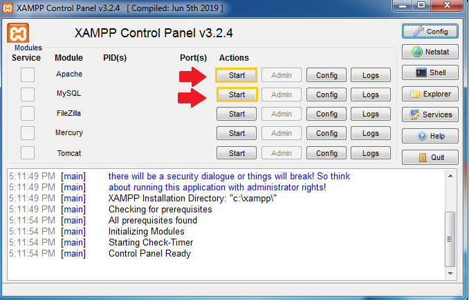 Installation Guides  to XAMPP Step 14