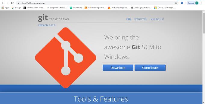 Installing to Git