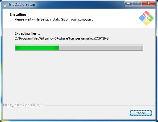 Installs Git