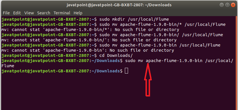 Move the downloaded apache