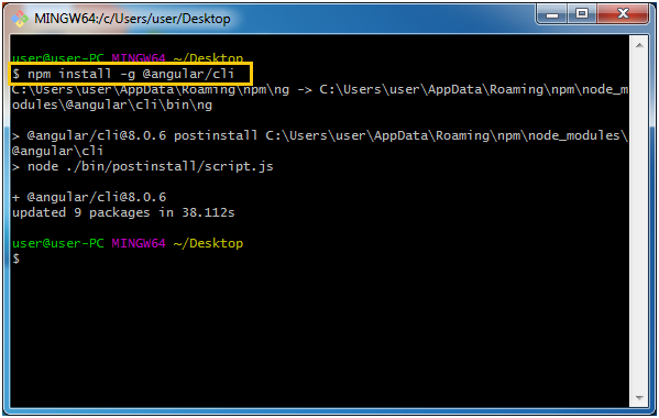 Npm Install angular