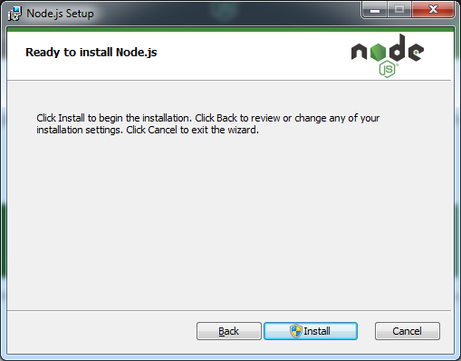 Ready to Install Node Js