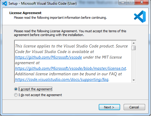 Visual studio licence agrement
