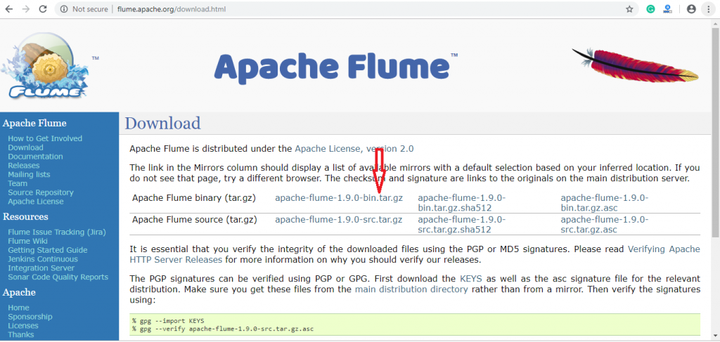 download Apache Flume