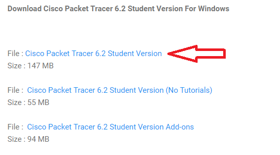 download and install the cisco packet tracer