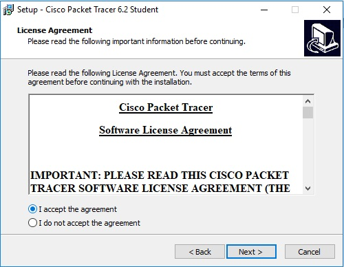 download and install the cisco packet tracer4
