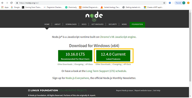 latest version of node and npm
