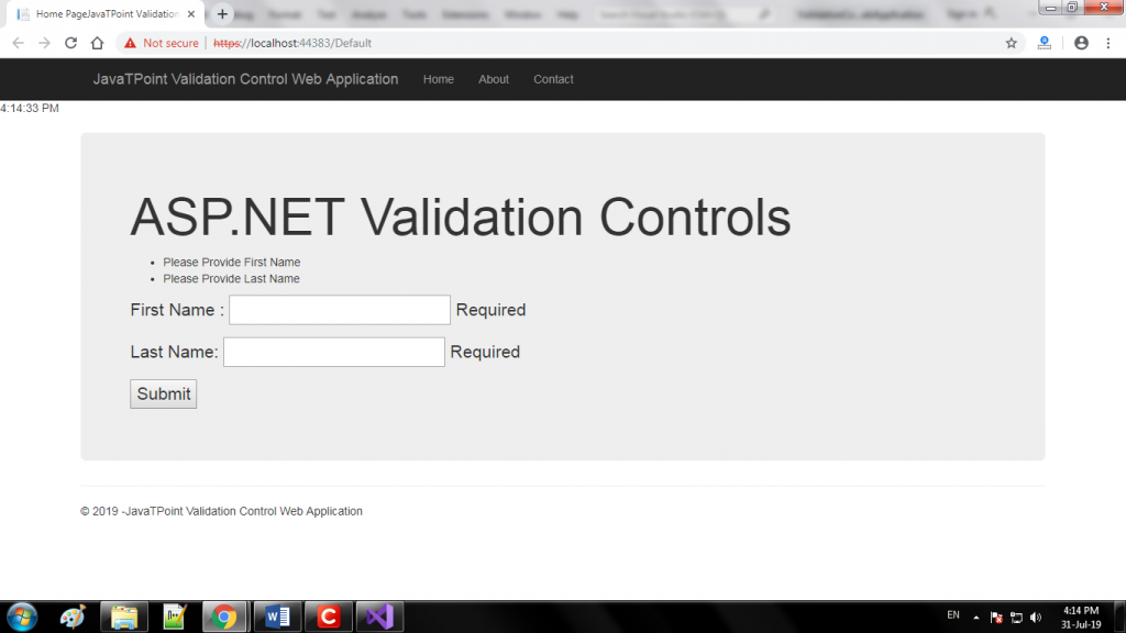 ASP.NET Validation Controls 3