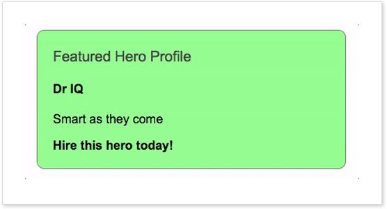 Featured hero profile