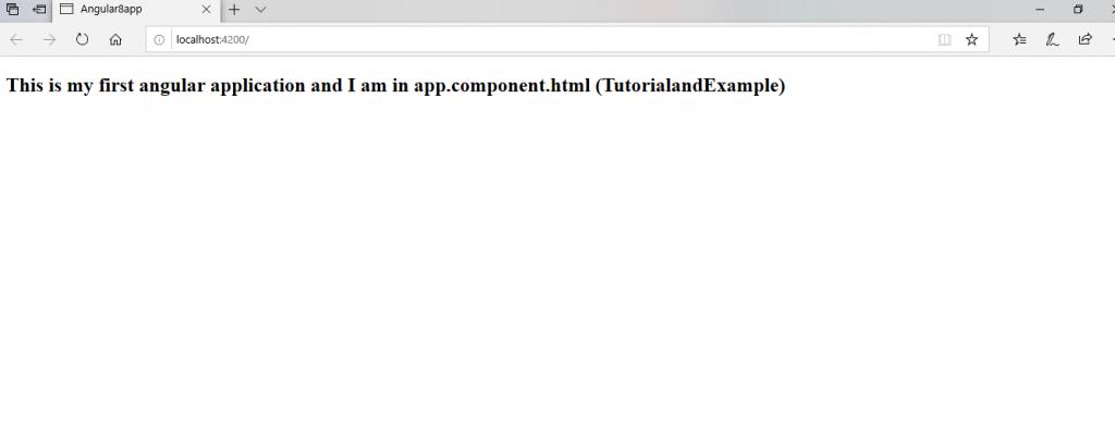 First angular app